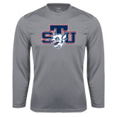 Performance Steel Longsleeve Shirt-STU w/ Bobcat Head