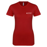Next Level Ladies SoftStyle Junior Fitted Cardinal Tee-School of Law