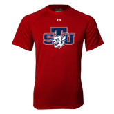 Under Armour Cardinal Tech Tee-STU w/ Bobcat Head