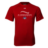 Under Armour Cardinal Tech Tee-Baseball Seams Design