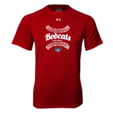 Under Armour Cardinal Tech Tee-Softball Seams Designs