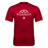 Performance Cardinal Tee-Soccer Half Ball Design