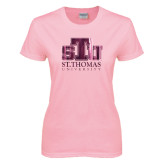 Ladies Pink T Shirt-Official Logo Foil