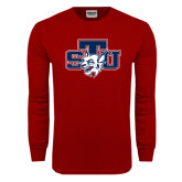 Cardinal Long Sleeve T Shirt-STU w/ Bobcat Head