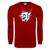 Cardinal Long Sleeve T Shirt-Bobcat Head
