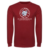Cardinal Long Sleeve T Shirt-Volleyball Ball Design