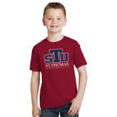 Youth Cardinal T Shirt-Official Logo