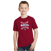 Youth Cardinal T Shirt-Softball Seams Designs