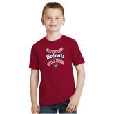 Youth Cardinal T Shirt-Softball Seams Designs