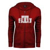 ENZA Ladies Cardinal Fleece Full Zip Hoodie-STU Glitter