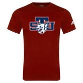 Adidas Cardinal Logo T Shirt-STU w/ Bobcat Head