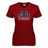 Ladies Cardinal T Shirt-Official Logo