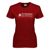 Ladies Cardinal T Shirt-Biscayne College