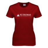 Ladies Cardinal T Shirt-University Mark
