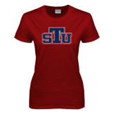 Ladies Cardinal T Shirt-STU