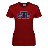Ladies Cardinal T Shirt-STU