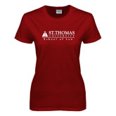 Ladies Cardinal T Shirt-School of Law