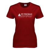 Ladies Cardinal T Shirt-School of Law