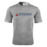 Performance Grey Heather Contender Tee-University Mark