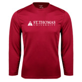 Performance Cardinal Longsleeve Shirt-University Mark