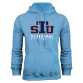 Light Blue Fleece Hoodie-Official Logo