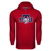Under Armour Cardinal Performance Sweats Team Hoodie-STU w/ Bobcat Head