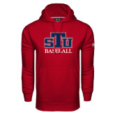 Under Armour Cardinal Performance Sweats Team Hoodie-Baseball
