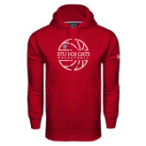 Under Armour Cardinal Performance Sweats Team Hoodie-Basketball Ball Design