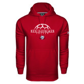 Under Armour Cardinal Performance Sweats Team Hoodie-Soccer Half Ball Design