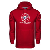 Under Armour Cardinal Performance Sweats Team Hoodie-Volleyball Ball Design
