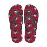 Full Color Flip Flops-STU w/ Bobcat Head