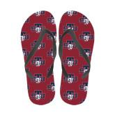 Full Color Flip Flops-STU w/ Bobcat Head