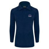Columbia Ladies Half Zip Navy Fleece Jacket-Official Logo