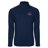 Sport Wick Stretch Navy 1/2 Zip Pullover-Official Logo