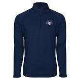 Sport Wick Stretch Navy 1/2 Zip Pullover-STU w/ Bobcat Head