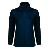 Ladies Fleece Full Zip Navy Jacket-STU Tone