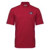 Cardinal Mini Stripe Polo-STU w/ Bobcat Head