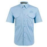 Light Blue Short Sleeve Performance Fishing Shirt-STU Tone