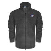 Columbia Full Zip Charcoal Fleece Jacket-STU w/ Bobcat Head
