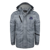 Grey Brushstroke Print Insulated Jacket-Official Logo