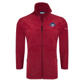 Columbia Full Zip Cardinal Fleece Jacket-STU w/ Bobcat Head