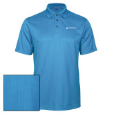 Light Blue Performance Fine Jacquard Polo-University Mark