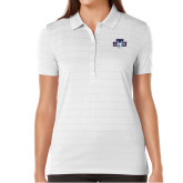 Ladies Callaway Opti Vent White Polo-STU w/ Bobcat Head
