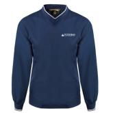 Navy Executive Windshirt-University Mark