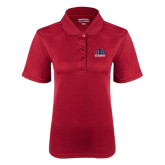 Ladies Cardinal Dry Mesh Polo-Official Logo