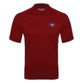 Cardinal Textured Saddle Shoulder Polo-STU w/ Bobcat Head