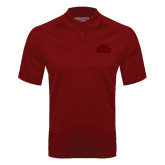 Cardinal Textured Saddle Shoulder Polo-STU Tone