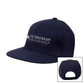 Navy Flat Bill Snapback Hat-School of Law