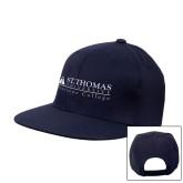 Navy Flat Bill Snapback Hat-Biscayne College