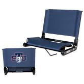 Stadium Chair Navy-STU w/ Bobcat Head